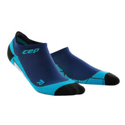 CEP compression cute womens socks - no show - navy and hawaii blue