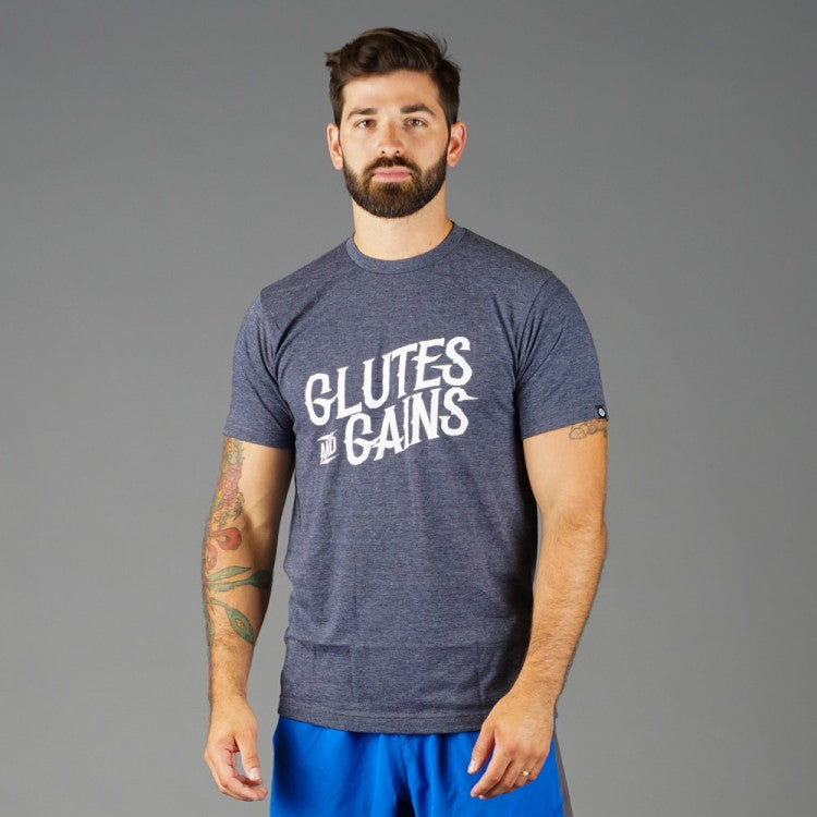 Men's Glutes and Gains Tee