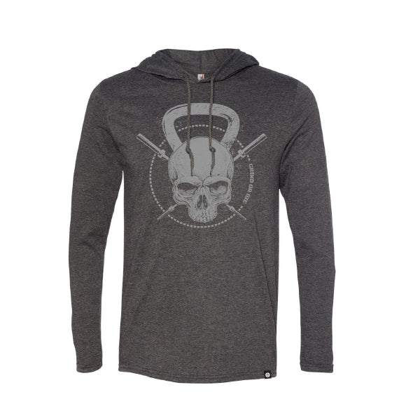 Men's Grind or Die Hooded Long Sleeve Tee