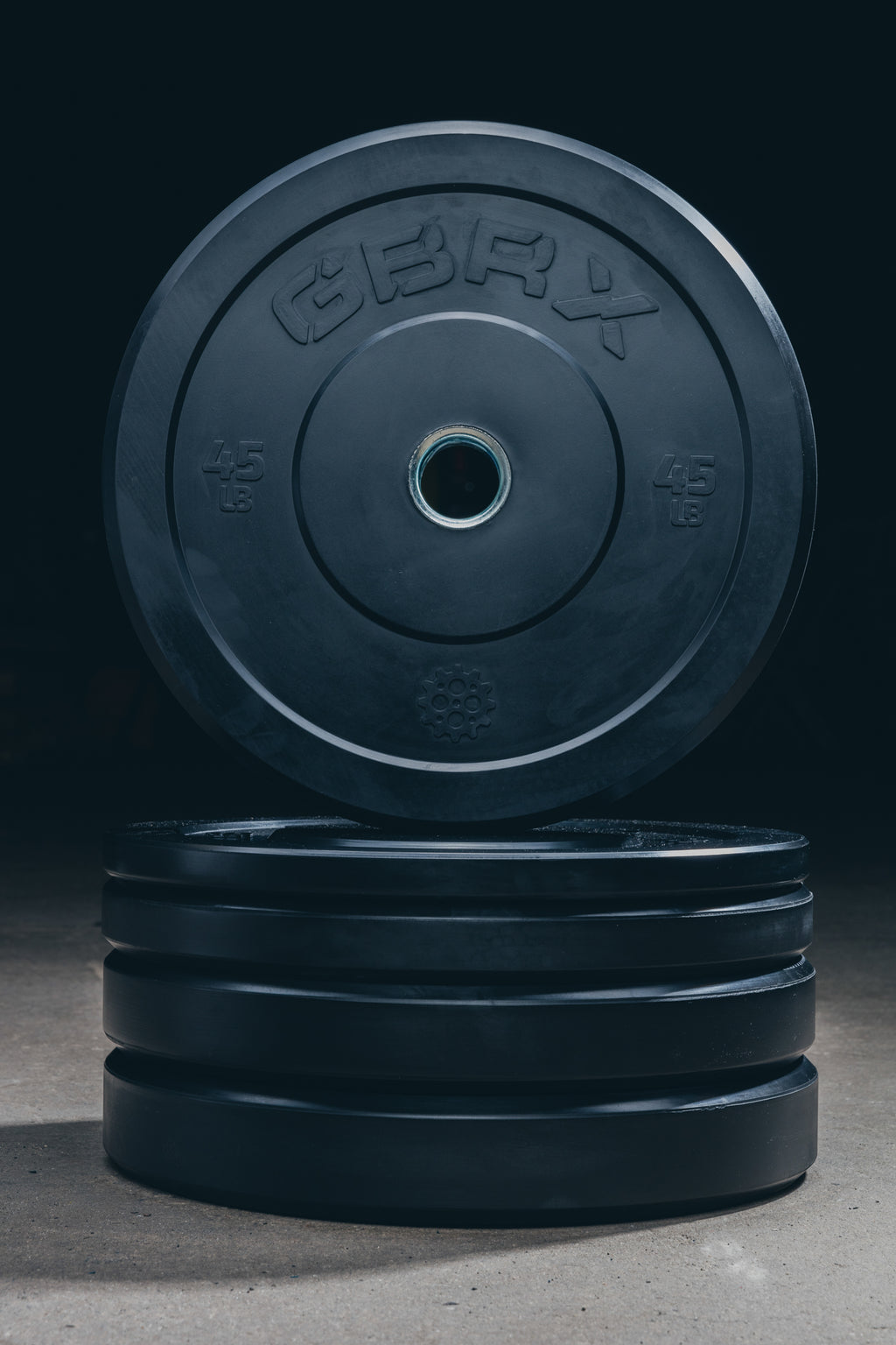 GBRX Black Bumper Plates 230lbs Set
