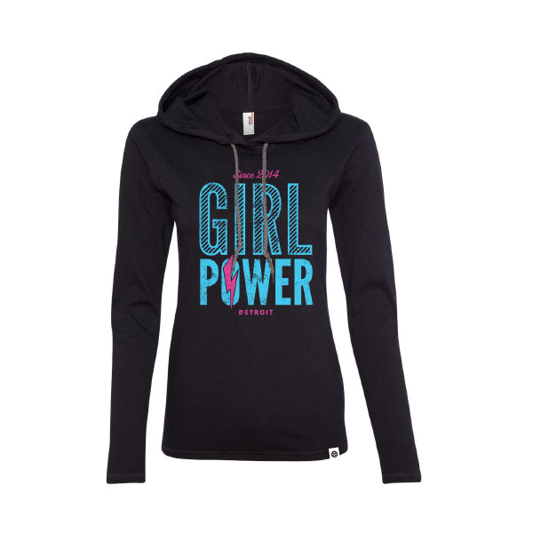 Women's Girl Power Long Sleeve Hooded Tee
