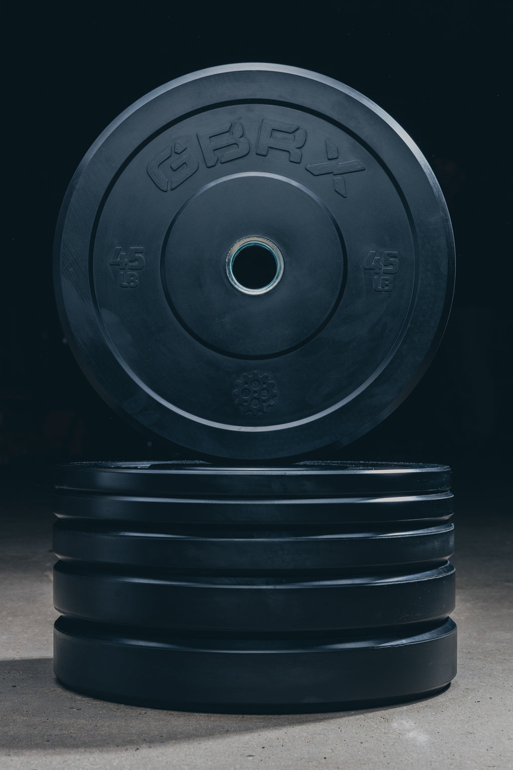 GBRX Black Bumper Plates 260 lbs Set
