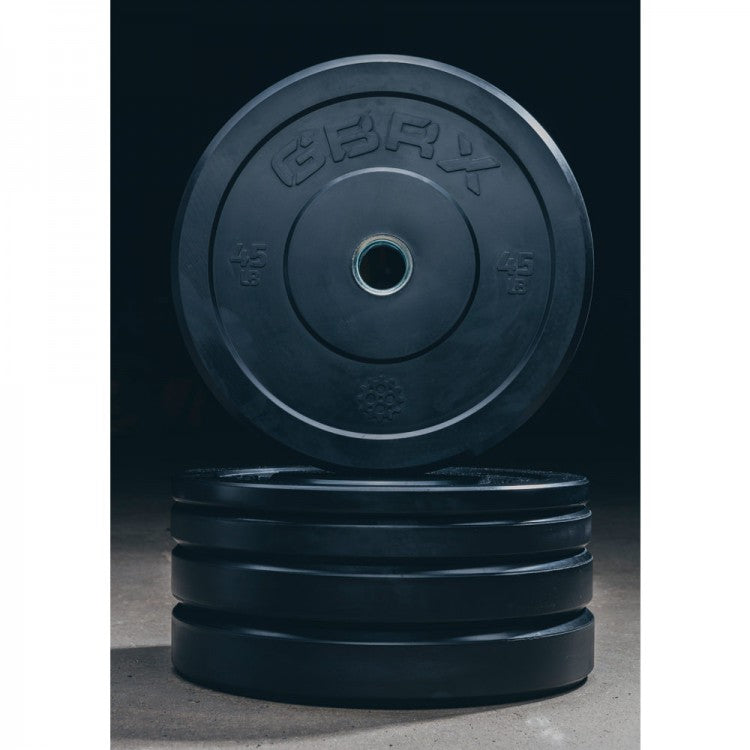 GBRX Black Bumper Plates 160lbs Set