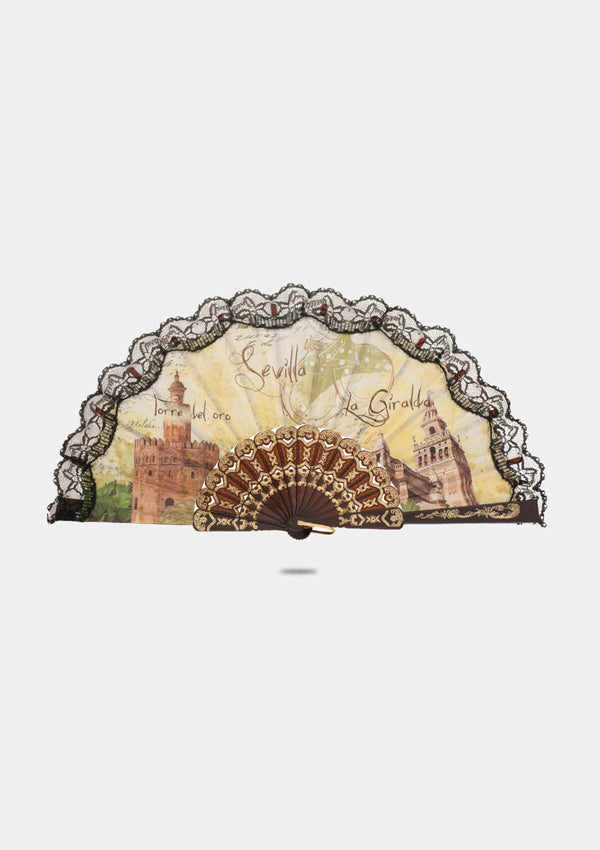 Sevilla Souvenir hand fan 9 inches (23 cm)
