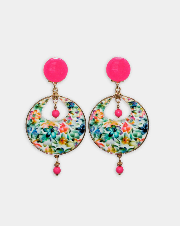 Flamenco Earrings Tropical Pink