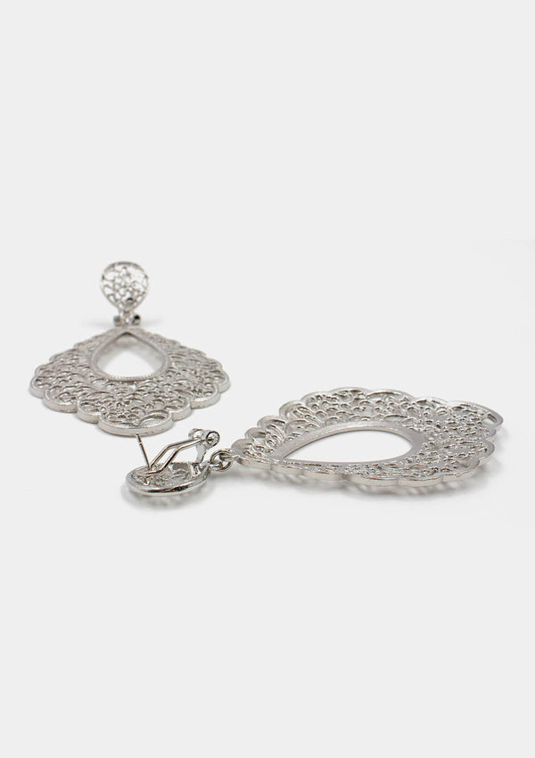 Flamenco earrings Metal Silver