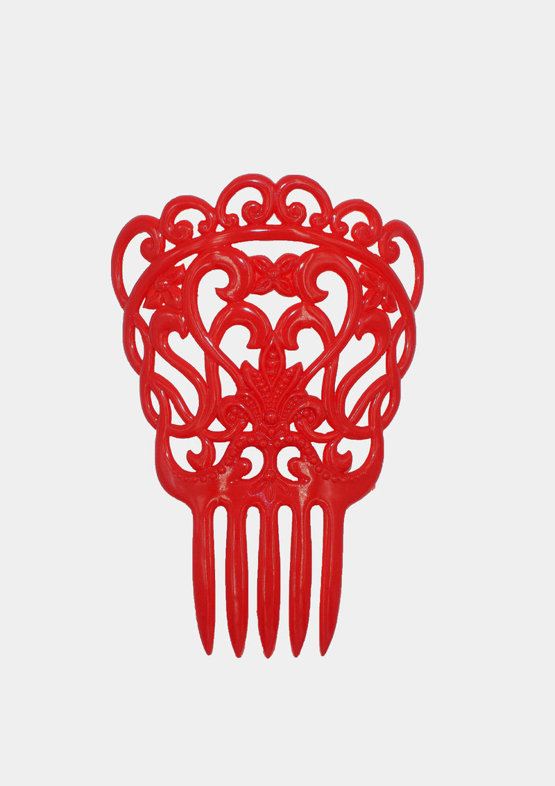 Flamenco comb red gipsy