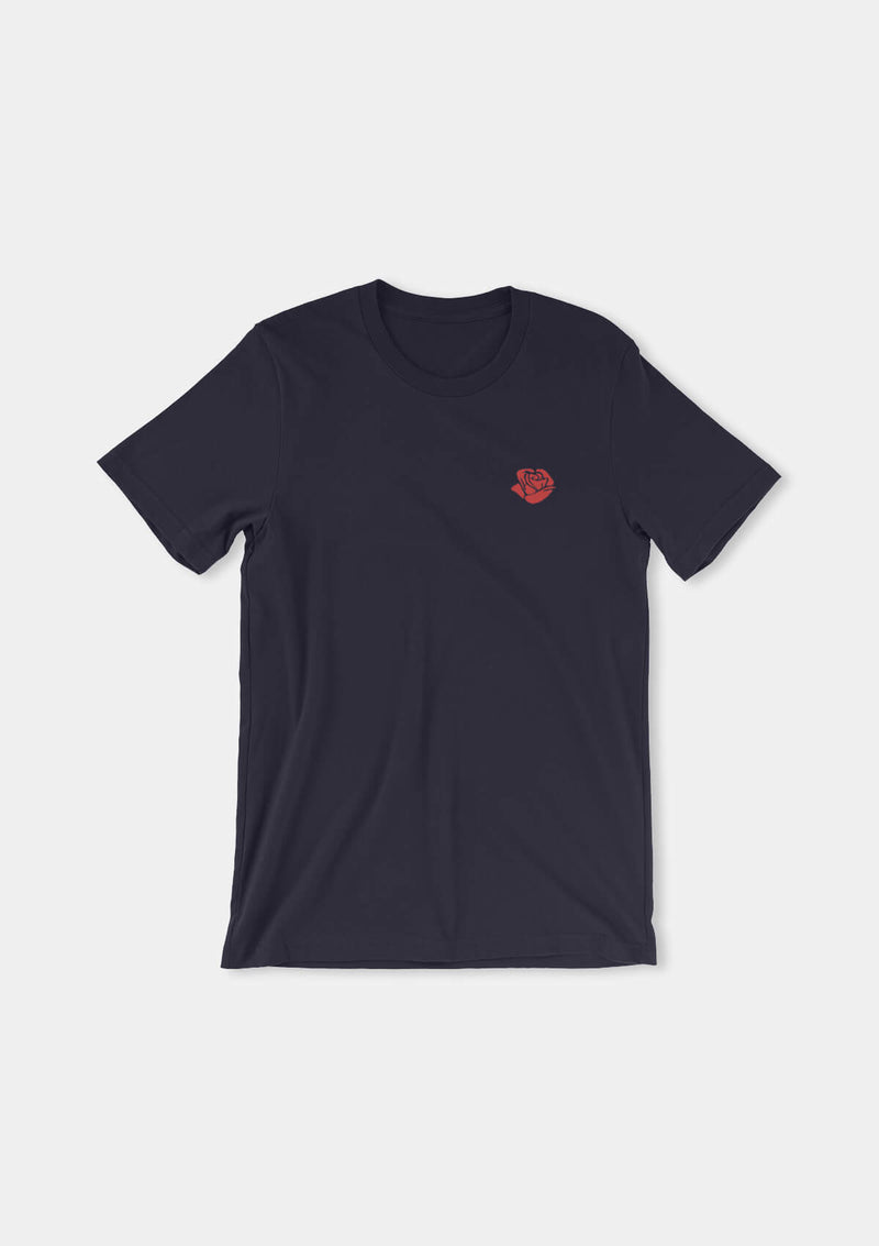 Embroidered Flamenco Rose Tee