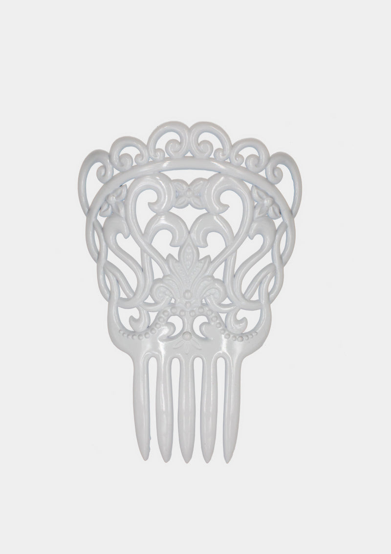 Flamenco comb white gipsy