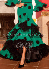 Flamenco Sevillana Esmeralda Gown Dress
