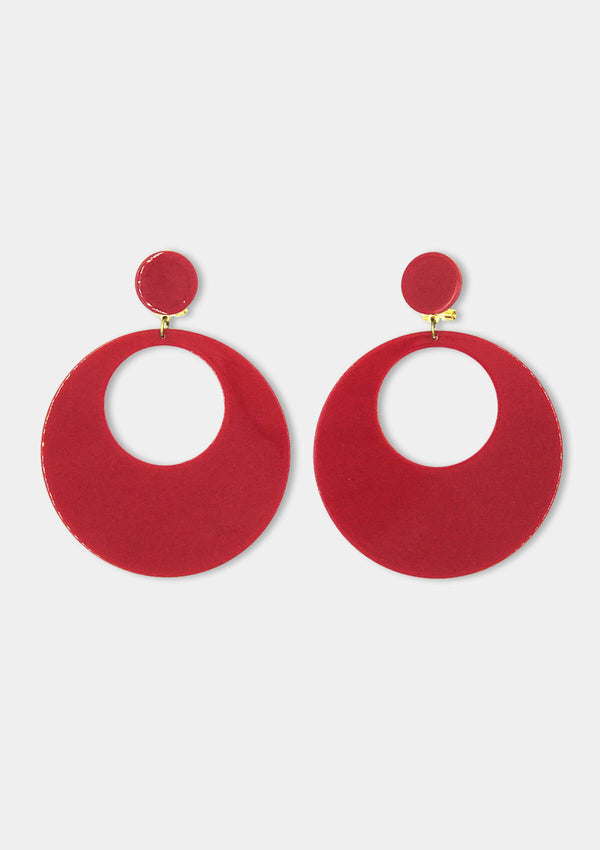 Spanish Acetate earring red
