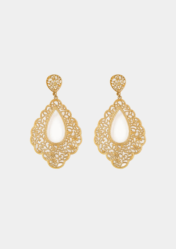 Flamenco gold earring