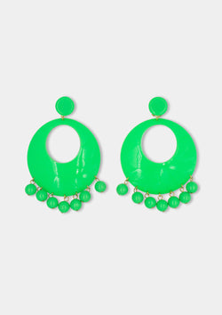 Flamenco earring green