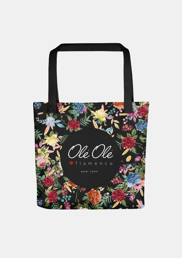 Flamenco Tote bag floral pattern drawing