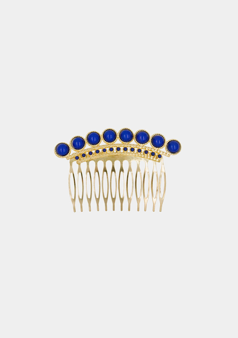 Spanish Comb Gold blue metal