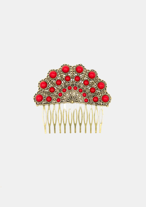 Spanish Comb Gold red metal