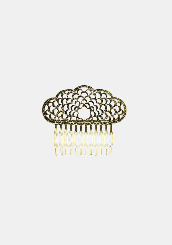 Spanish Comb Old Gold metal