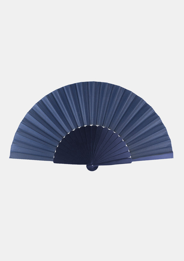 Flamenco Pericon wooden hand fan 12 inches (31.5 cm) Blue