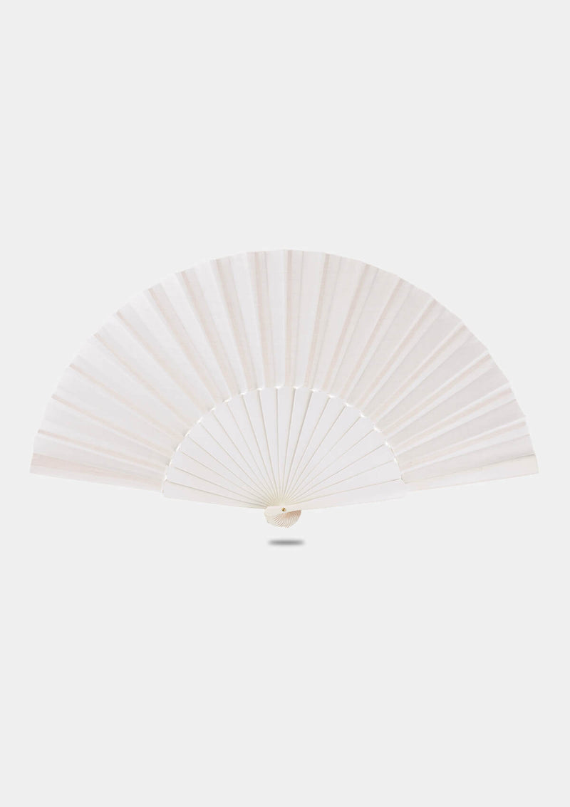 Flamenco Pericon Hand Fan 12 inch (32 cm) | White