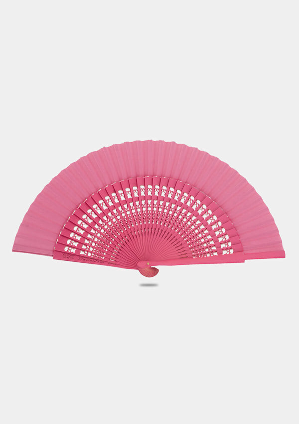 Spanish wooden Pink hand fan