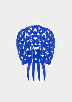 Flamenco comb blue