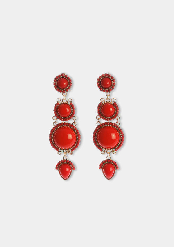 Flamenco Earring Teardrop red