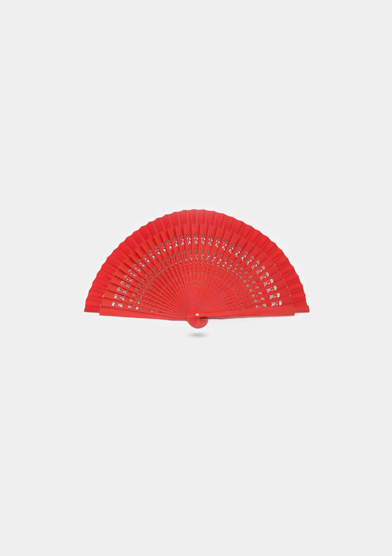 Flamenco Girl Mini red hand fan 5.5 inches (14 cm)