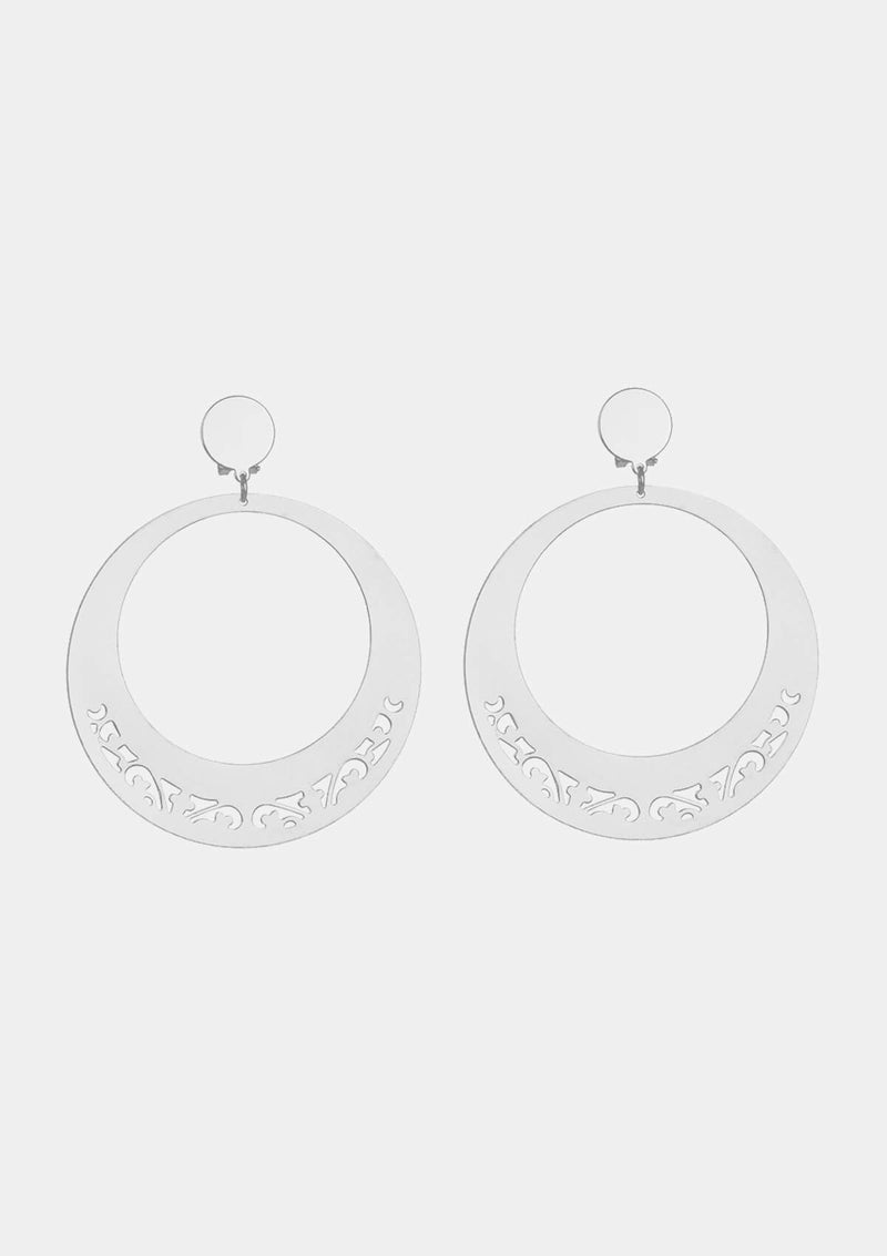 Flamenco earrings silver