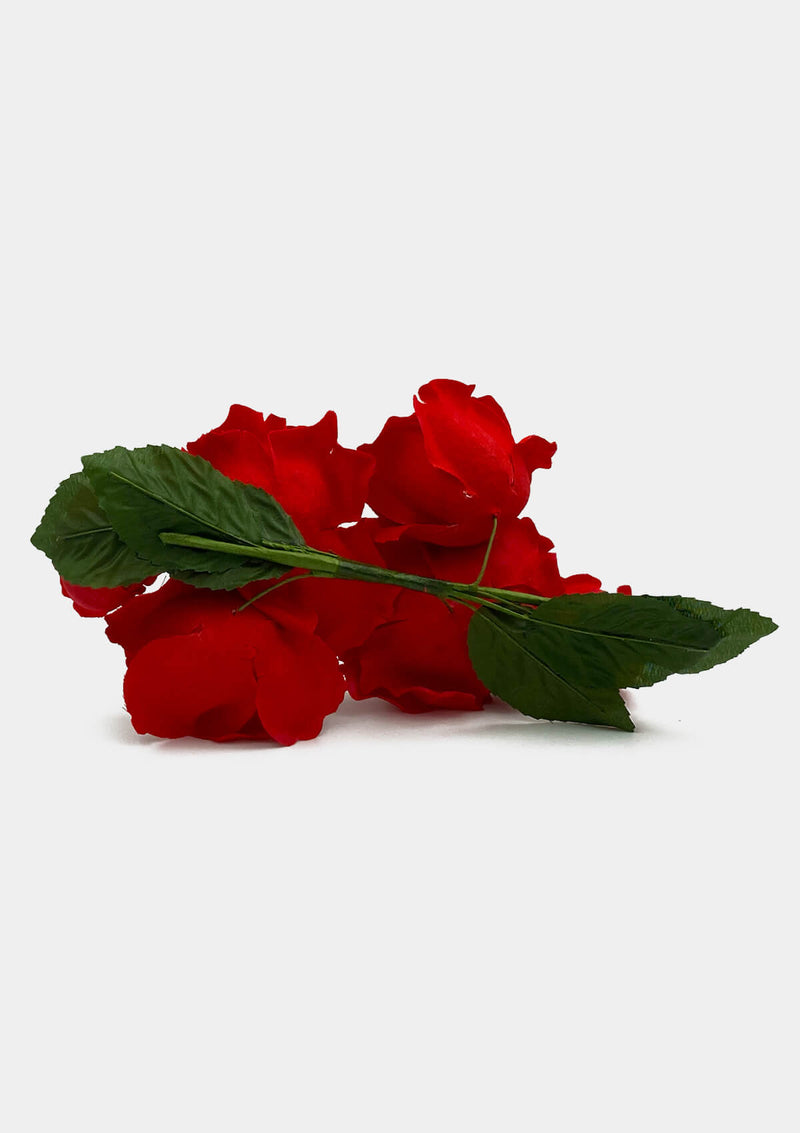 Red Floral Hairband Flamenco