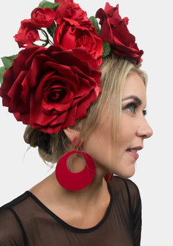 Acetate Flamenco Earrings red