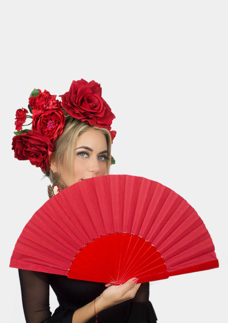 Red Spanish hand fan