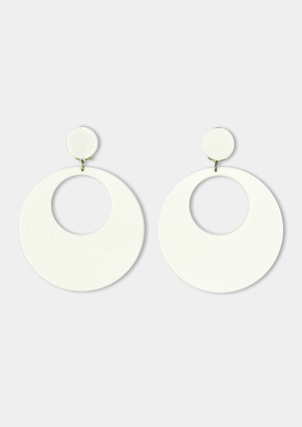 Acetate Flamenco Earrings white