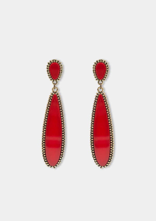 Flamenco Earrings Valencia red