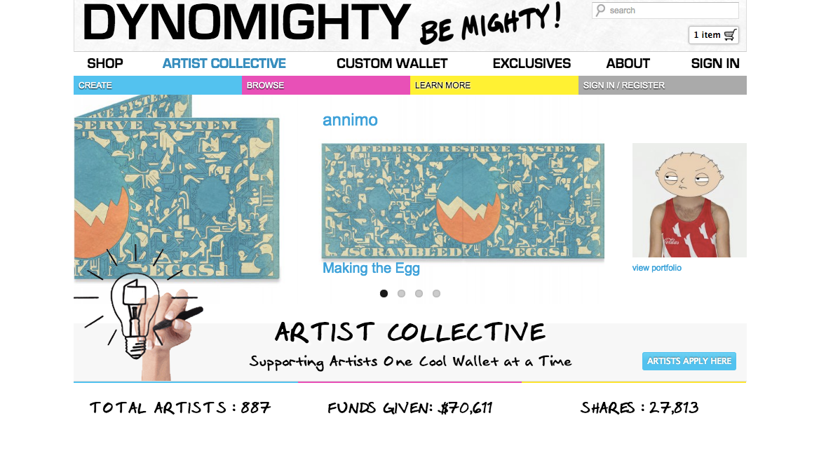 Artist Collective on Mighty Wallet