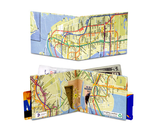 Nyc Subway Map On Business Card.Subway Map Mighty Wallet