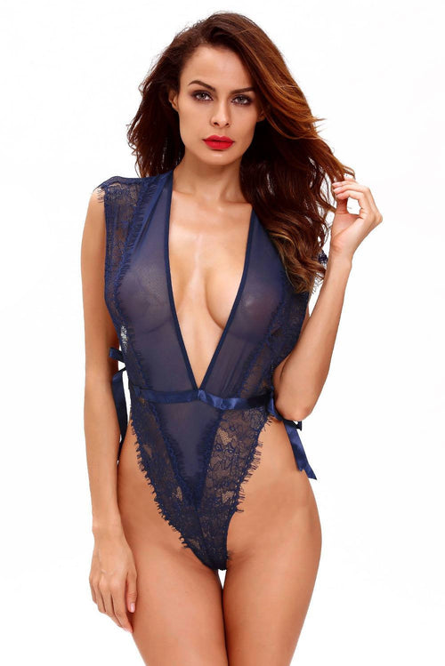 Navy Bodysuit Teddy