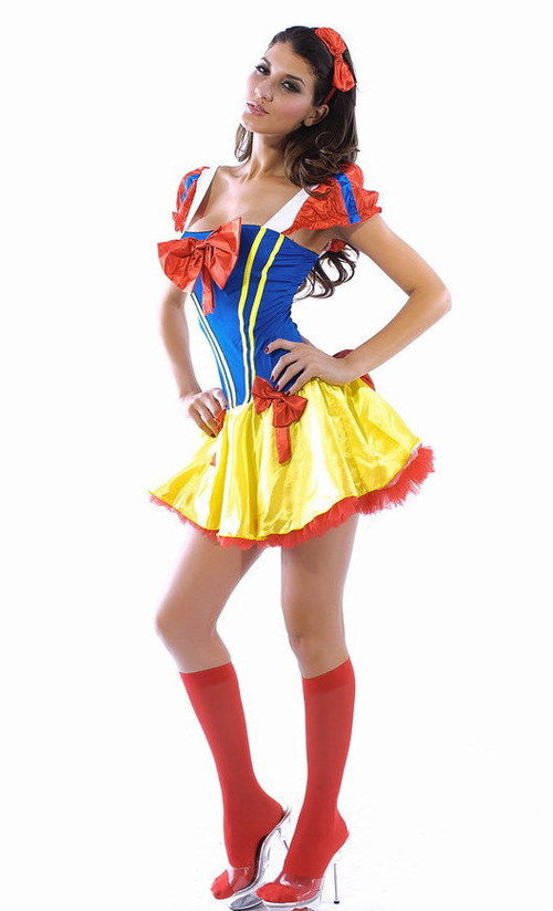 Snow White Disney Mini Dress Princess Halloween Costume Cosplay One Size 8301