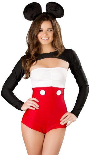 Mickey Mouse Halloween Costume Romper Shrug Disney Animals Fairytale Small 262