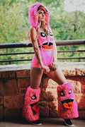 Furry Pink Monster Costume