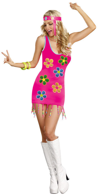 Hippie Halloween Costume Groovy Baby Fringe Decade Cosplay Holiday Small 8864