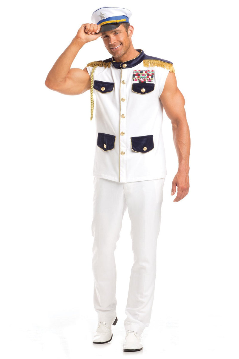 2 Piece Scintillating Sea Captain Costume