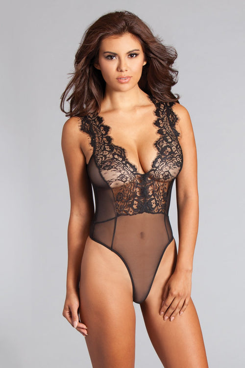 Eyelash Lace Sheer Teddy