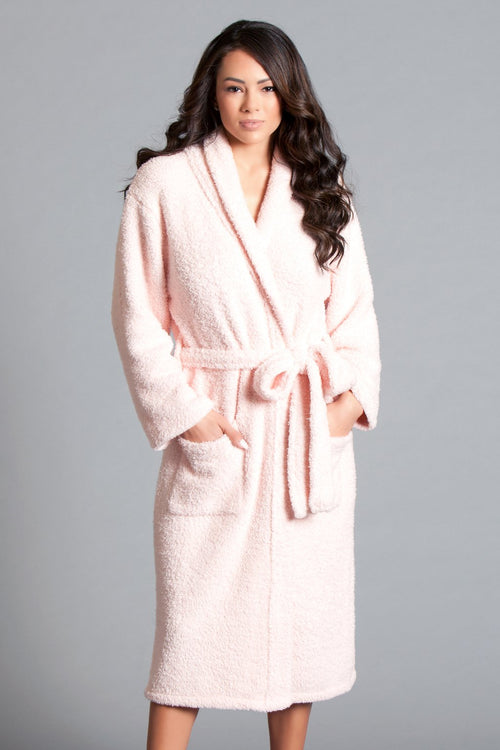 Candy Pink Plush Bath Robe