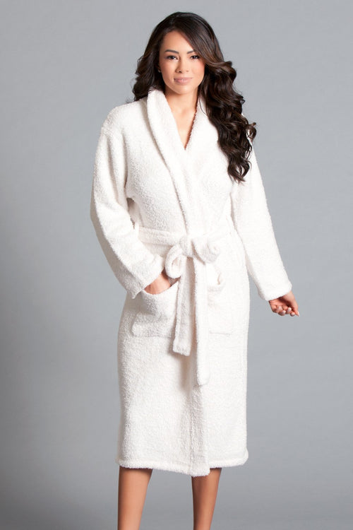 White Plush Bath Robe