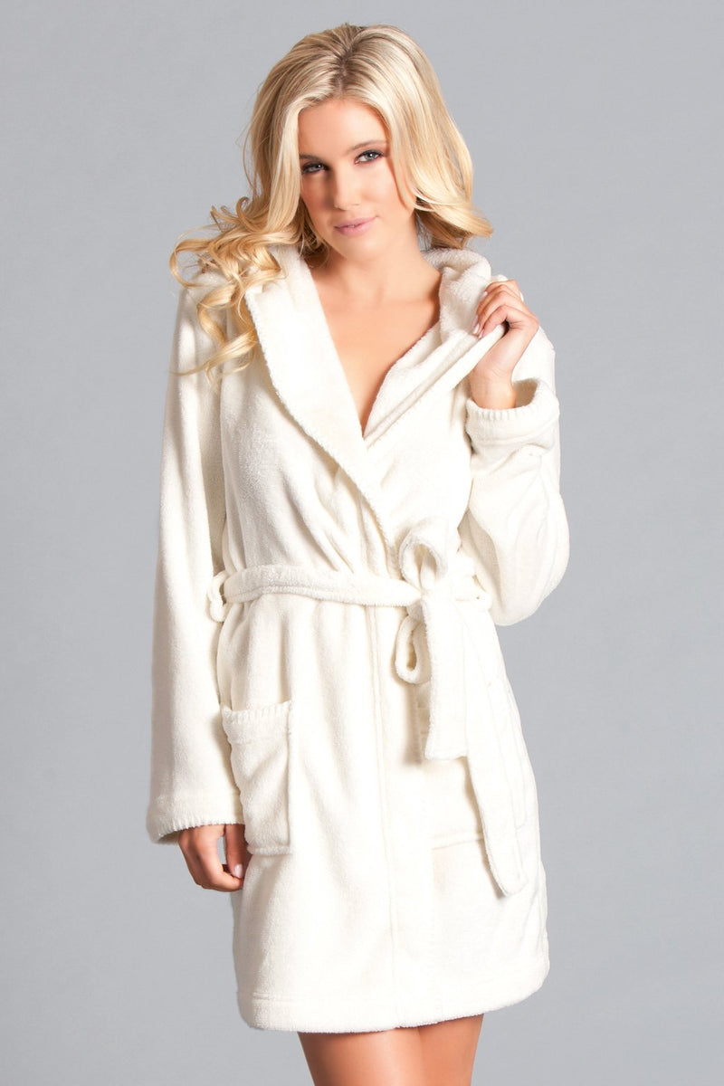 Ivory Plush Bath Robe