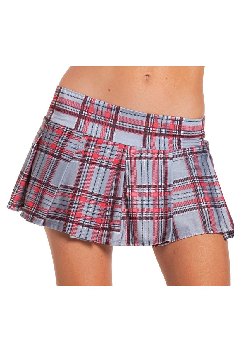 School Girls Grey Plaid Skirt
