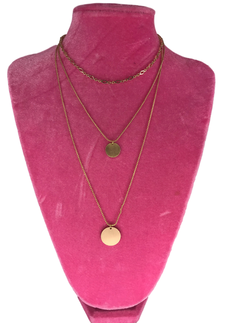 Gold Layered Pendant Necklace