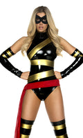 Hot Hero Black and Gold Superhero Costume