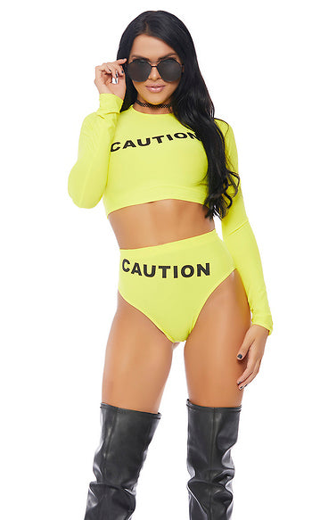 Caution Costume Halloween Without Caution