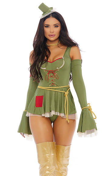 Green Scarecrow Sexy Movie Character Costume